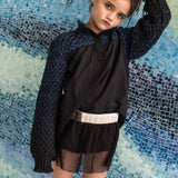 Black Velvet Bloomers with Tulle for Girls
