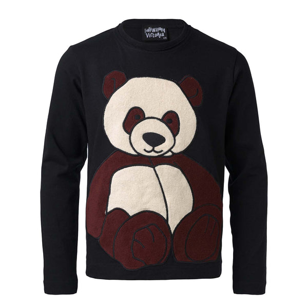 Black Longsleeve Shirt with Panda