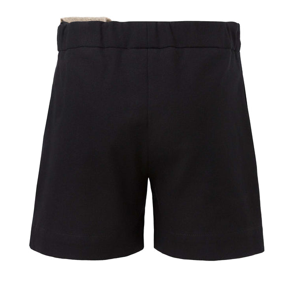 Black Shorts with Hemp Sash