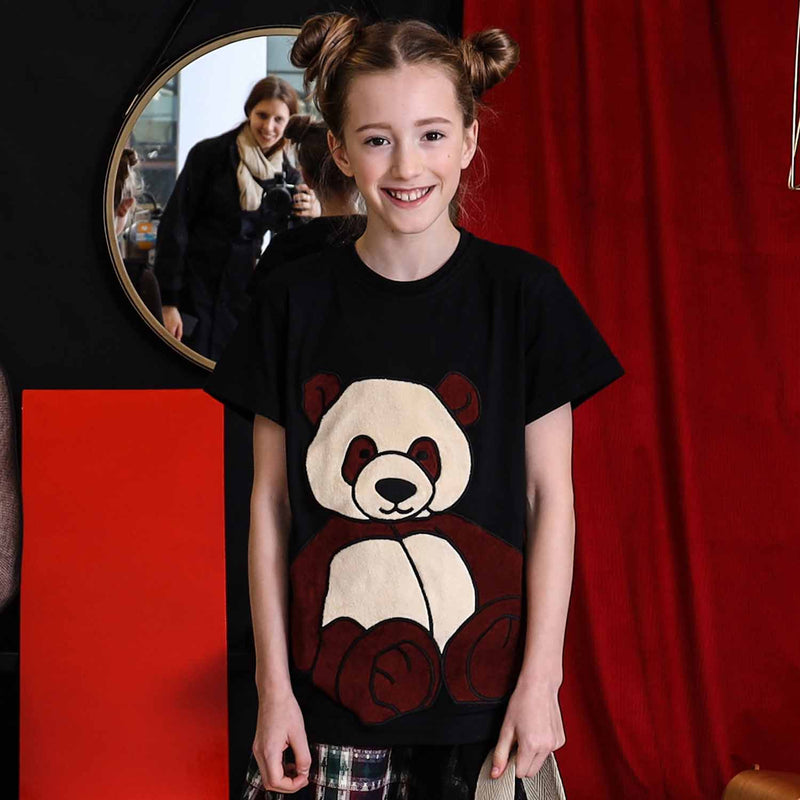 Black T-Shirt with Panda