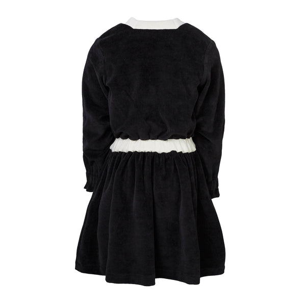 PRELOVED Black Velvet Dress for Girls, 6 years