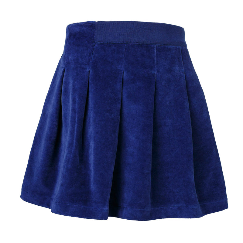 Blue Velvet Skirt for Girls