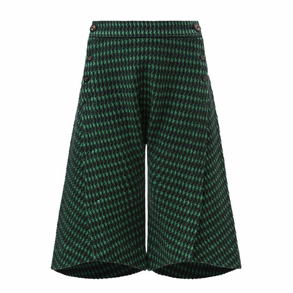 Green Culottes Shorts