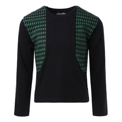 Black Longsleeve with Green Elements