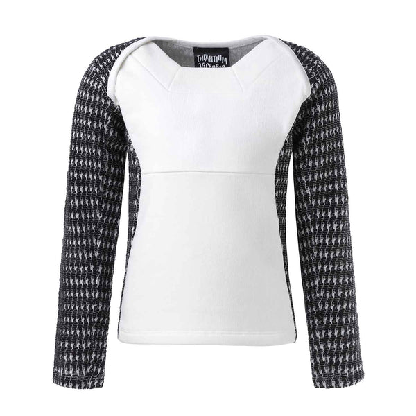 Black and White Lonsleeve Top