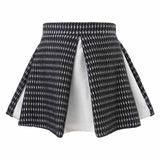 Mini Circle Skirt inBlack and White