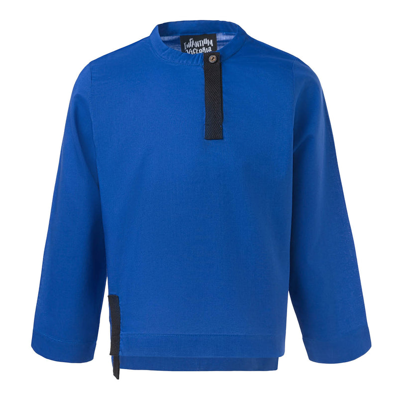 Royal Blue Shirt with Tab Collar
