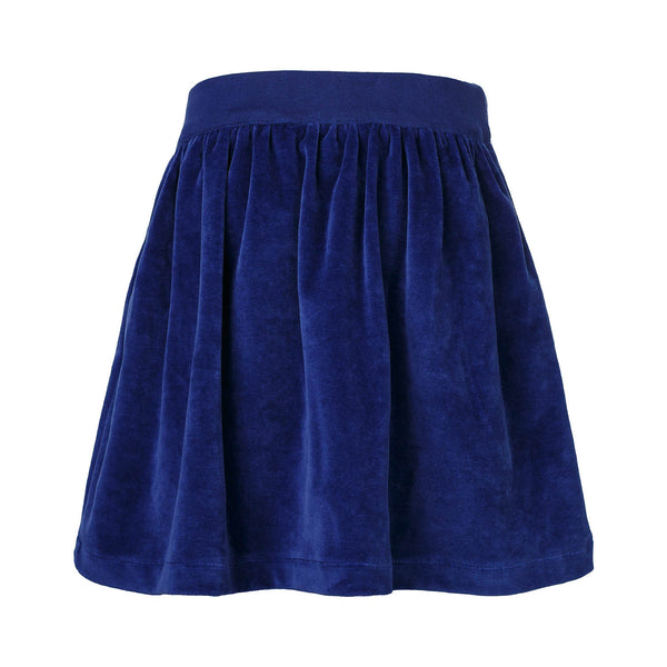 PRELOVED Blue Velvet Skirt for Girls, 6 years