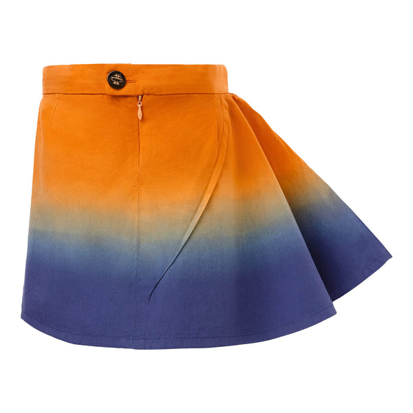Dip Dye Short Skirt