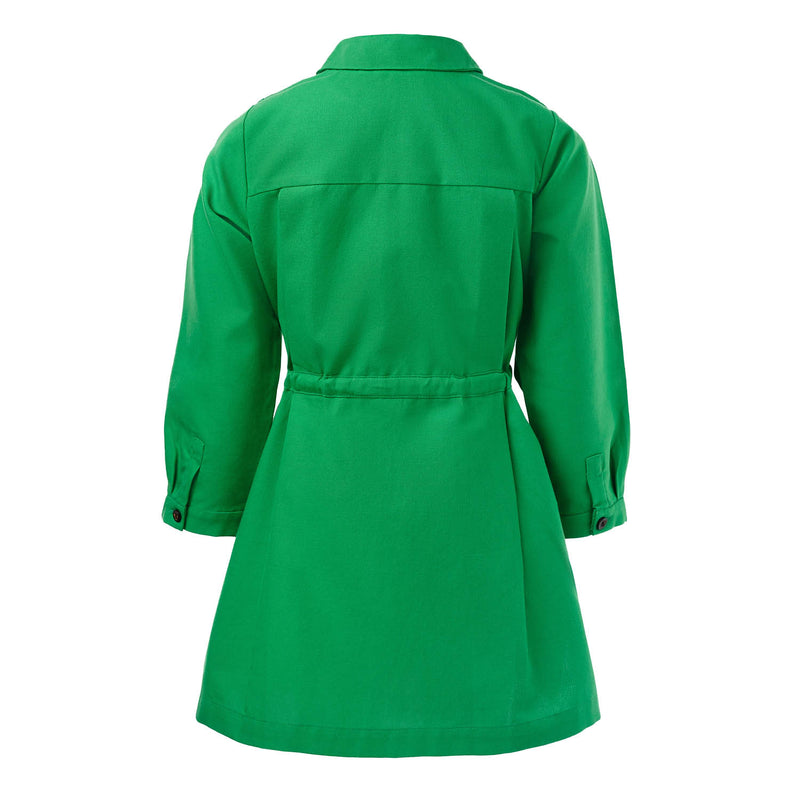 Green Shirt Dress