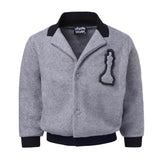 Grey Fleece Blazer
