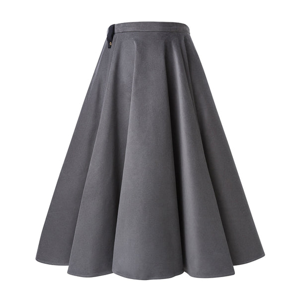 Grey Corduroy Full Circle Skirt