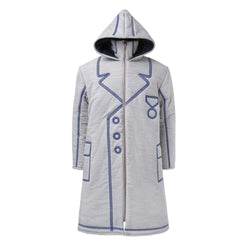 Oversized Coat with Blue Emboidery