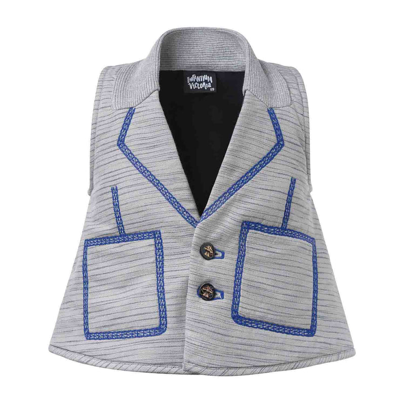 Padded Vest with Embroidery
