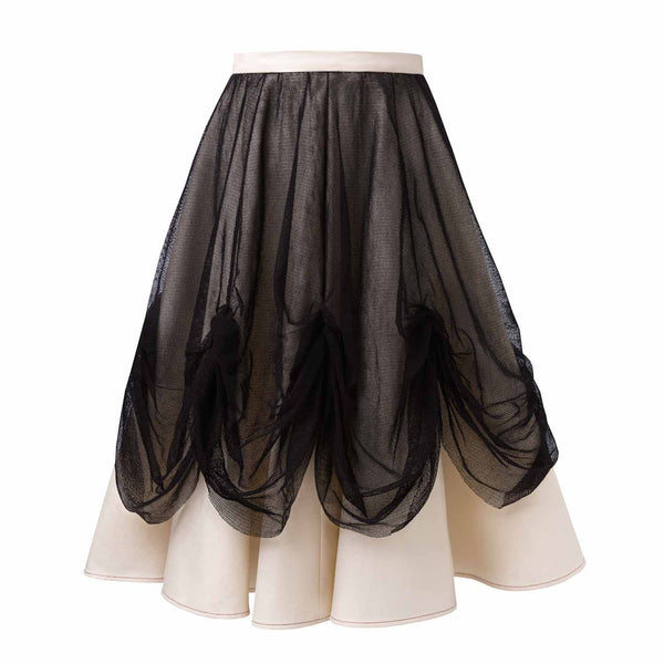 Off-white Maxi Skirt with Tulle