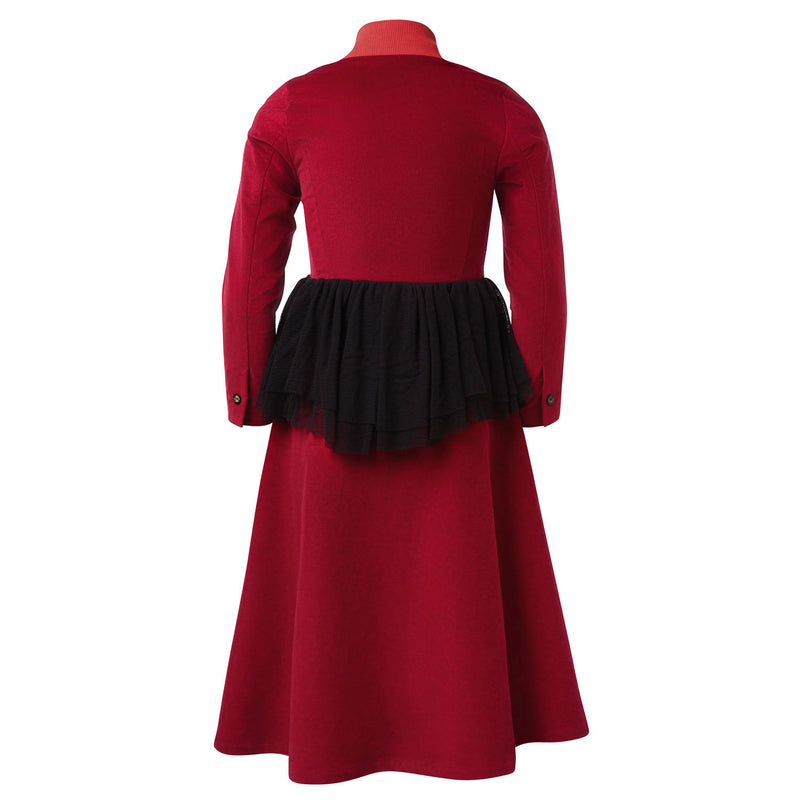 Red Velvet Bustle Dress