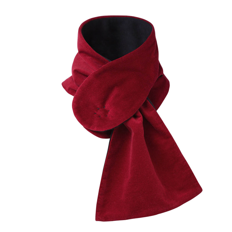 Red Corduroy Scarf