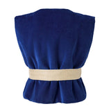 Royal Blue Velvet Vest