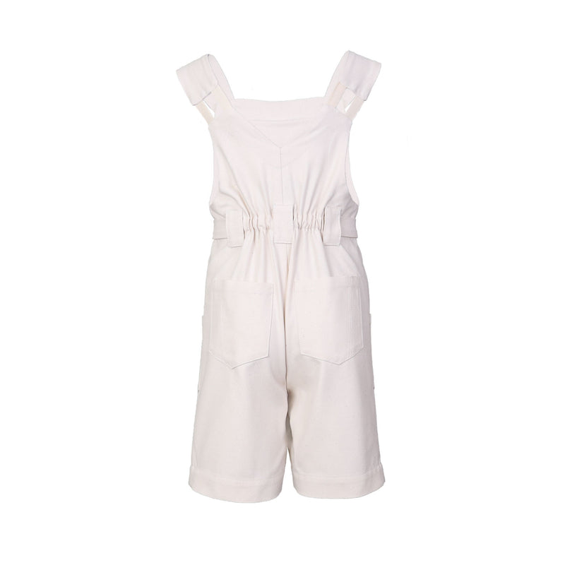 Hand-painted Off-White Overall