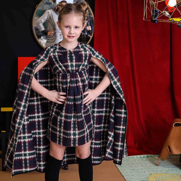 Tartan Cape Dress