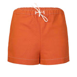 Terracotta Canvas Mini Shorts
