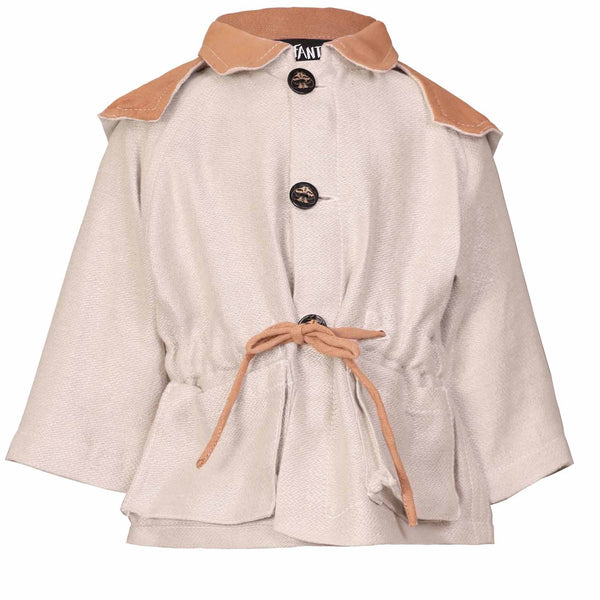 Beige Baby Jacket with Hood