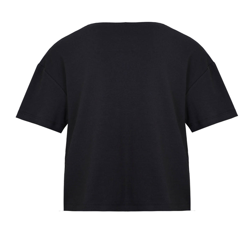 Black Oversized T-Shirt with Hand Painting