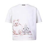 White Oversized T-Shirt with Hand Painting