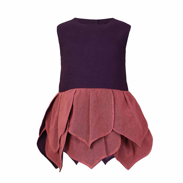 Purple Baby Dress with Flower Petals
