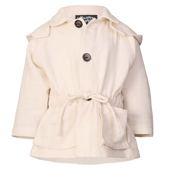White Baby Jacket with Hood