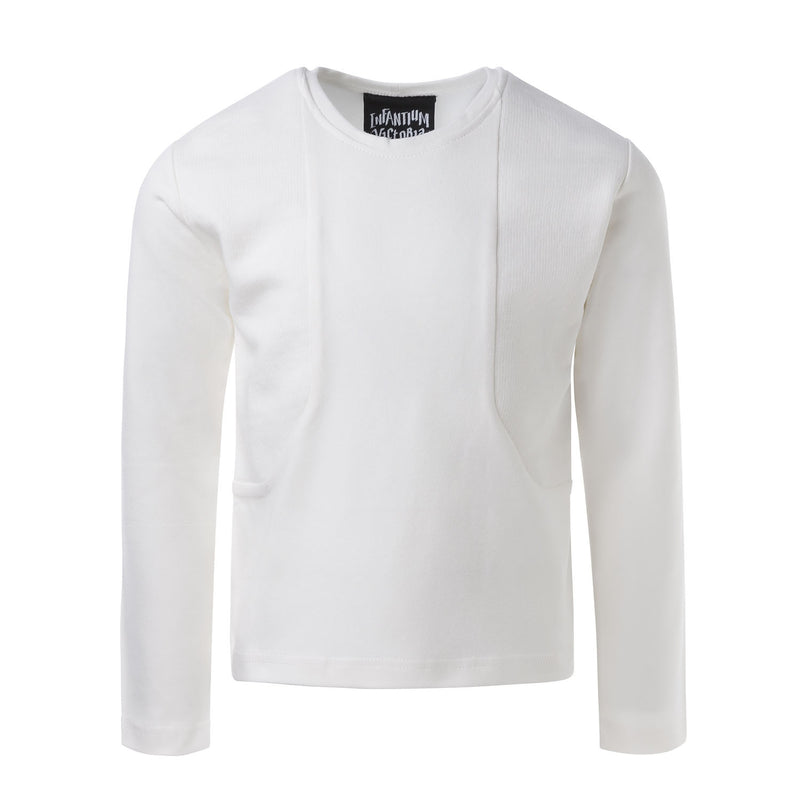White Longsleeve with Blend Textiles