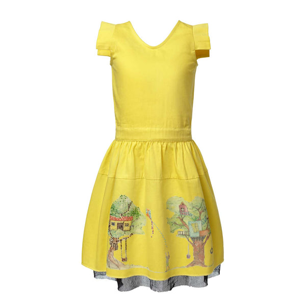 CANOPY SUNDRESS Organic Cotton Baby Girls Dress