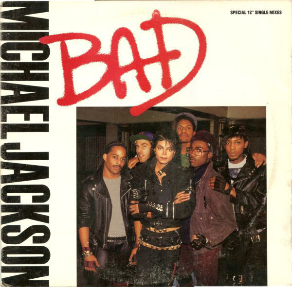 "Michael Jackson - Bad - Mint- 12"" Single USA 1987 - Pop/Synth"