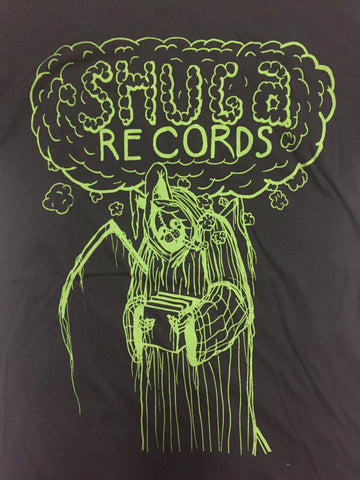 Uncle Harvey - Shuga Records Winter 2018 Repress on Green on Black T-Shirt