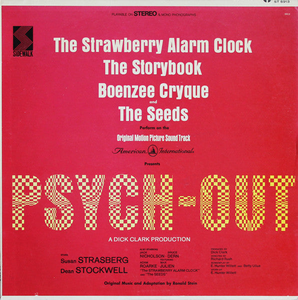 Various - Psych-Out Motion Pictire - VG+ (Poor Cover) 1968 Stereo (Original Press) USA -  Soundtrack/Garage/Psychedelic Rock