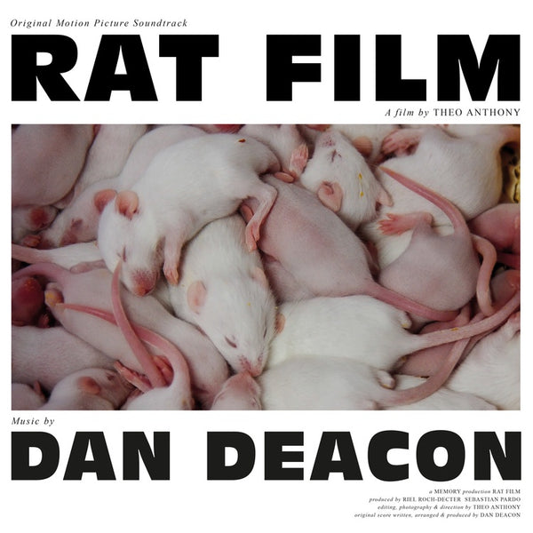 Dan Deacon - Rat Film (Original Film Score) - New Vinyl 2017 Domino Recordings 180Gram Pressing with Download - Soundtrack / Score