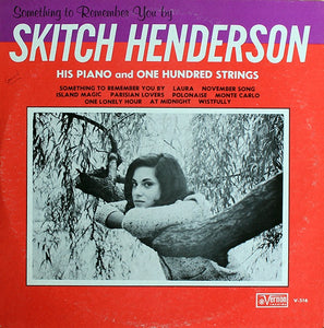 Skitch Henderson His Piano & One Hundred Strings / The Lee Warren Group ‎– Something To Remember You By - Mint- Lp Record 1963 USA Mono Original Vinyl - Jazz / Space-Age / Big Band