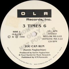 "3 Times 6 / Sons Of Nippon - Split VG+ - 12"" Single 1990 Oak Lawn USA White Label Promo - Electro"