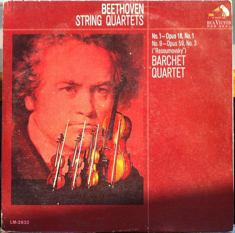 Barchet Quartet - Beethoven String Quartets - VG+ 1965 RCA Red Seal Stereo USA - Classical