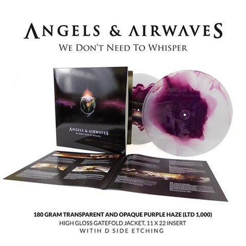 Angels & Airwaves ‎– We Don't Need To Whisper - New 2 Lp Record 2017 SRC Suretone Clear & Purple Haze Vinyl - Alternative Rock