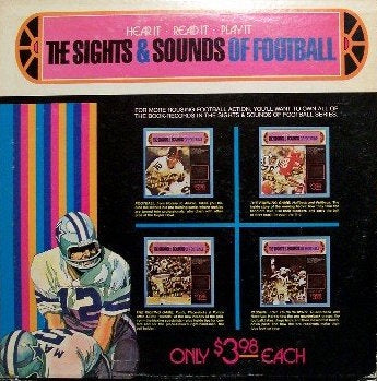 The Sights & Sounds Of Football - Passing For Touchdowns: Quarterback and Receiver VG 1973 Troll Associates USA - Instructional / Spoken Word