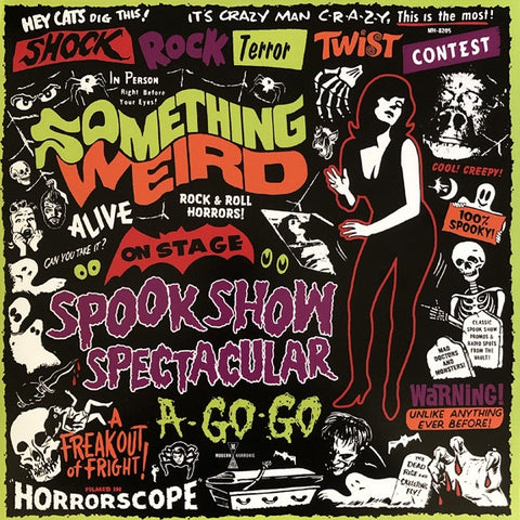 Various ‎– Something Weird Spook Show Spectacular A-Go-Go - New Record LP 2019 MONO Red Vinyl Compilation with DVD - Garage Rock / Theme Music / Special Effects