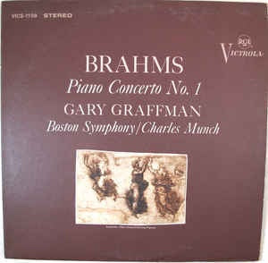 Brahms - Gary Graffman, Boston Symphony Orchestra, Charles Munch - Concerto No. 1, In D Minor, Op. 15 - VG+ 1965 RCA Victrola Stereo USA - Classical / Romantic