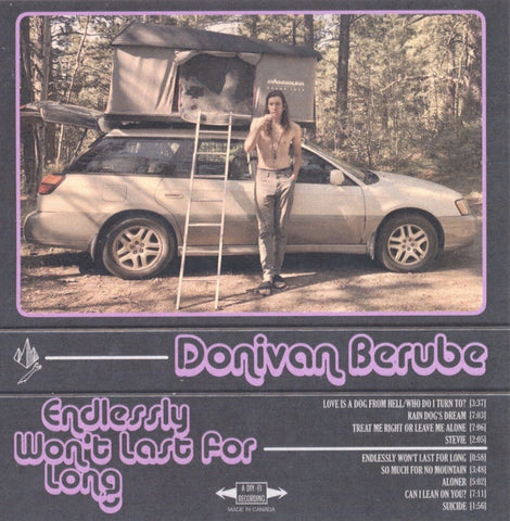 Donivan Berube ‎– Endlessly Won't Last for Long - New Cassette 2019 Limited Edition Colored Tape - Indie Rock