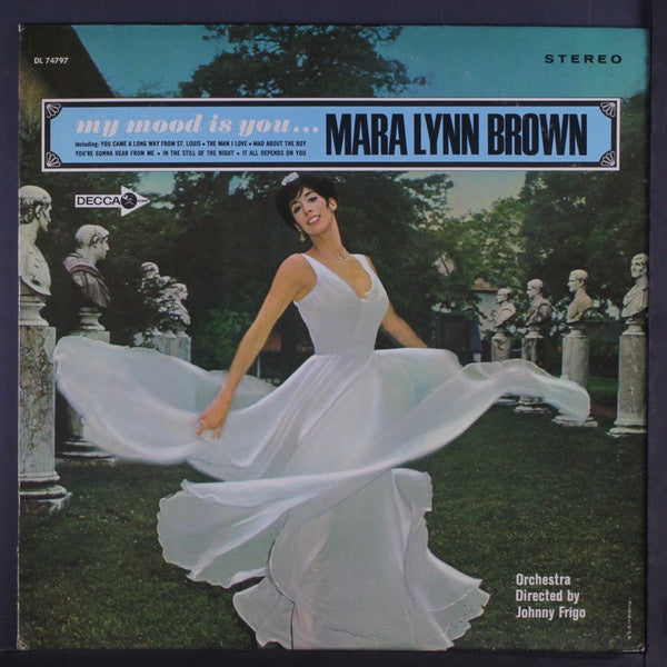 Mara Lynn Brown Orchestra Directed Johnny Frigo ‎– My Mood Is You... - VG+ Lp Record 1966 Decca USA Vinyl - Jazz Vocal / Pop