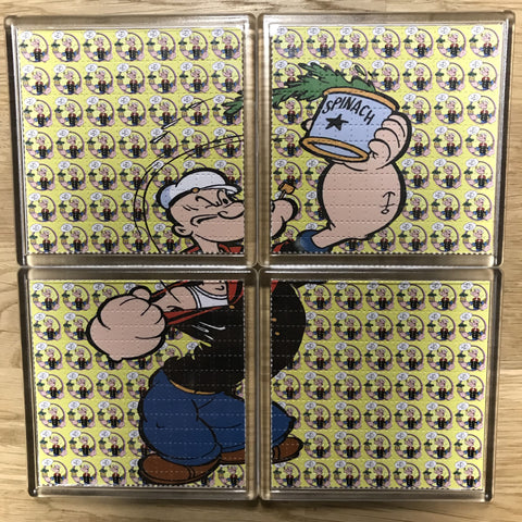 Popeye - Blotter Art - Highly Collectible Artwork Blotter Paper Coaster (4 pack)