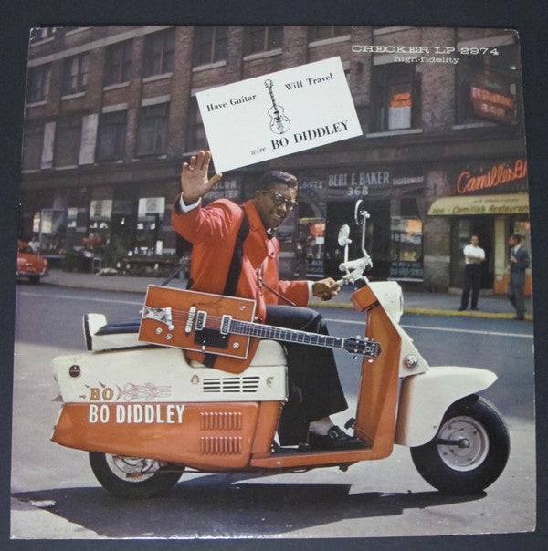 Bo Diddley ‎– Have Guitar, Will Travel - VG- (low grade) 1960 Checker USA Mono White Label Promo - Rock / Blues