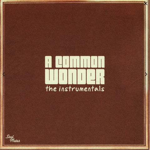 Amerigo Gazaway ‎– A Common Wonder The Instrumentals (Common & Stevie Wonder) (201) - New 2 Lp Record 2020 Soul Mates Europe Import Vinyl - Hip Hop / Soul