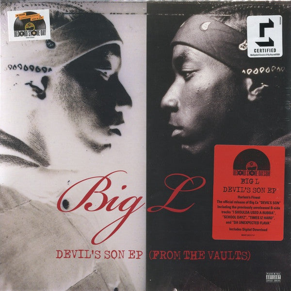 Big L - Devil's Son EP (From The Vaults) - New Vinyl 2017 Sony Legacy Record Store Day Exclusive + Download, Limited to 3000 - Rap / Hip Hop