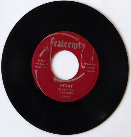 2 Of Clubs - Heart / My First Heart Break - VG 45rpm 1966 USA - Soul / Funk